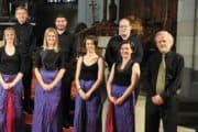 Douglas Lawrence (right) with some of his Australian Chamber Choir.